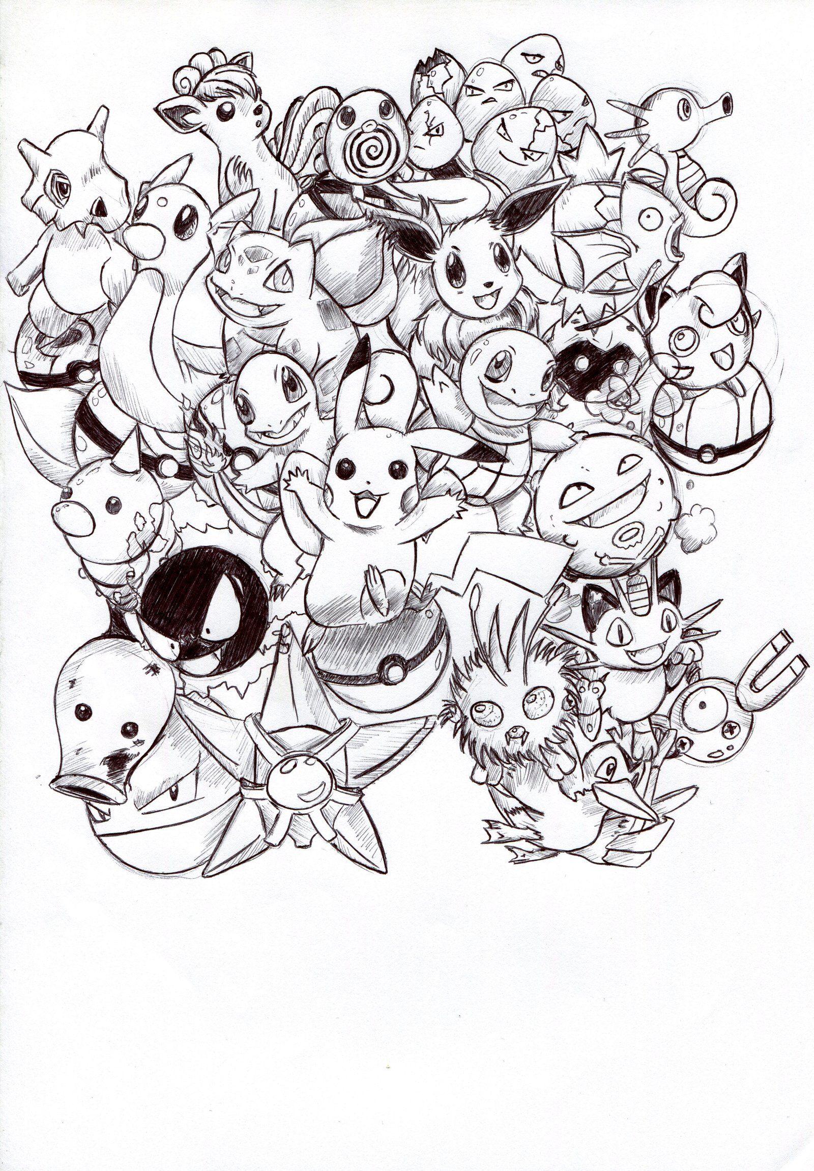 Kanto Pokemon Explosion B W By Troisnyxetienne On Deviantart Pikachu Coloring Page Pokemon Coloring Pokemon Coloring Pages