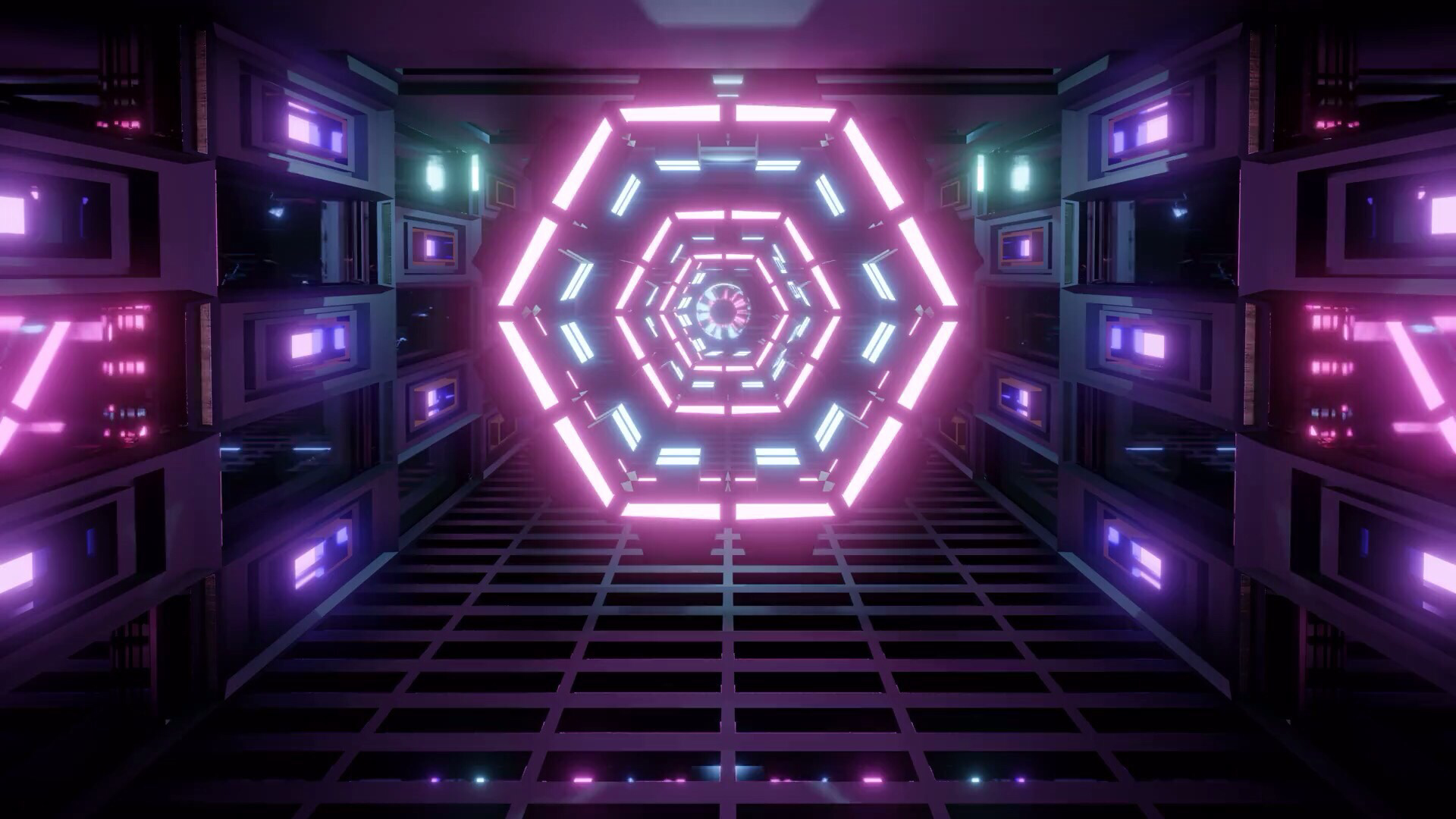 Free K Pink Futuristic Eye Free Scifi Video Background P Fps