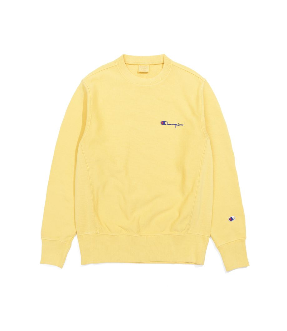 Толстовка Champion Crewneck Sweatshirt Champion Logo Yellow  8ec76793b1de