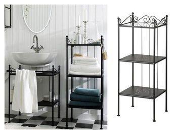 IKEA RÖNNSKÄR Bathroom Shelving Unit, 103cm BLACK. From Trade Me.