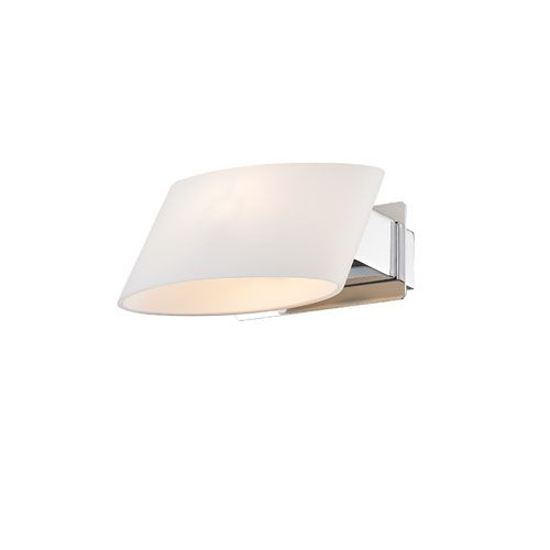 Clio Chrome One Light Wall Sconce Iberlamp By Golden 1 Light Armed Glass Wall Sconces Wall