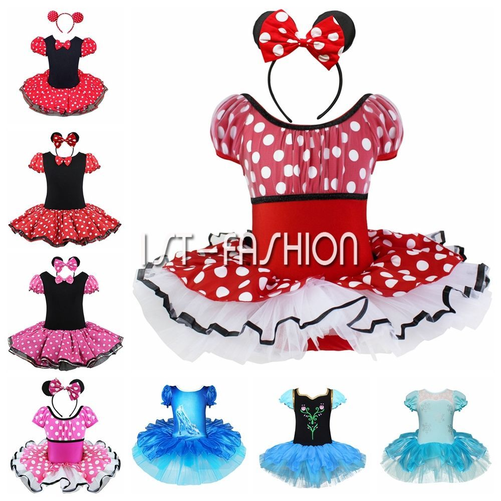 Toddler Kid Girl Baby Minnie Mouse Cosplay Costume Fancy Dance Tutu