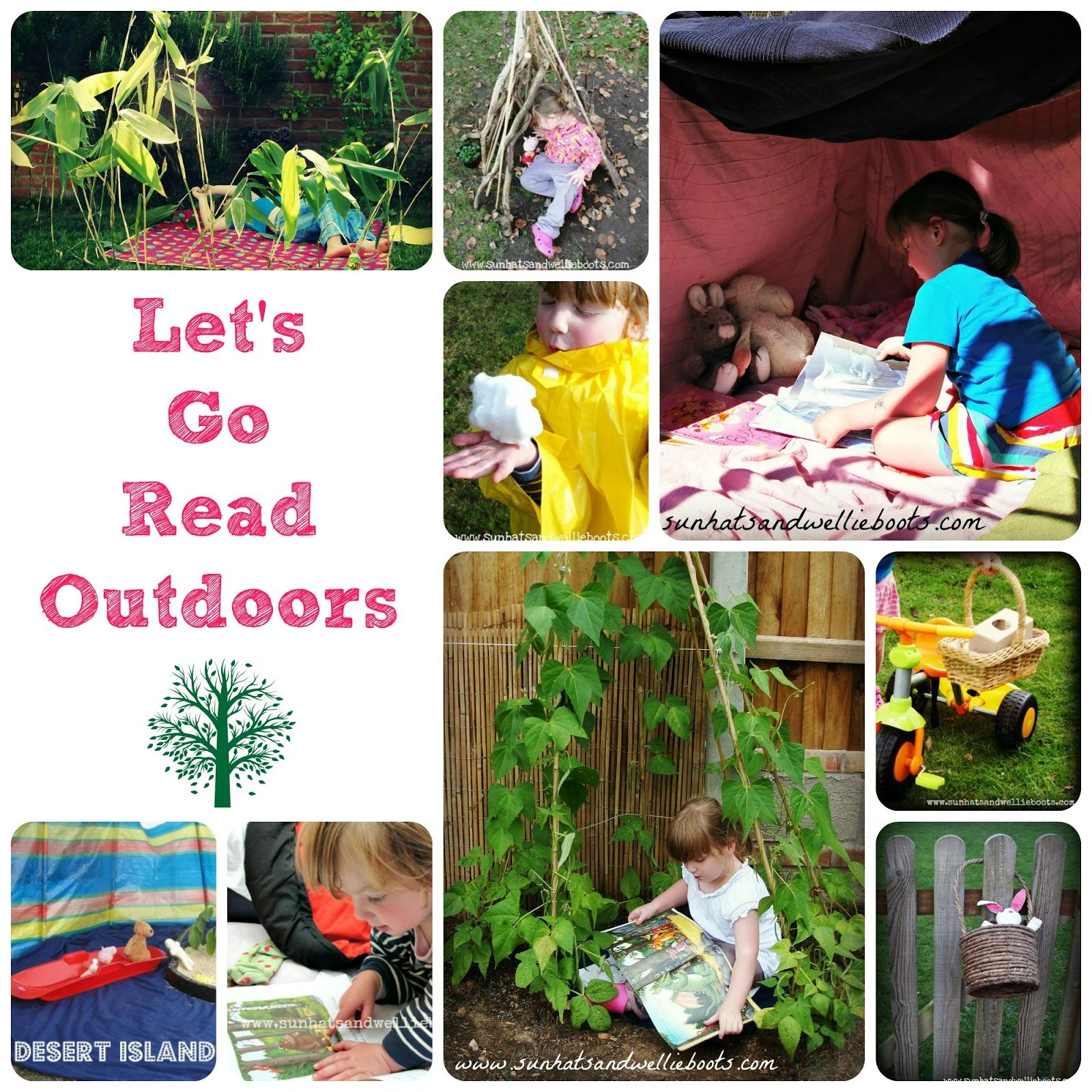 Let's Go Read Outdoors - 5 Reasons Why Literacy is more fun outside!