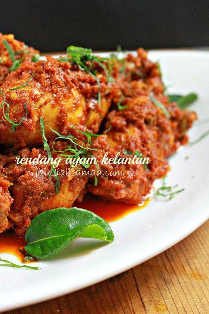 Fauziahsamad Com Rendang Ayam Kelantan Tanpa Kerisik Resep Masakan Malaysia Resep Ayam Resep Makanan
