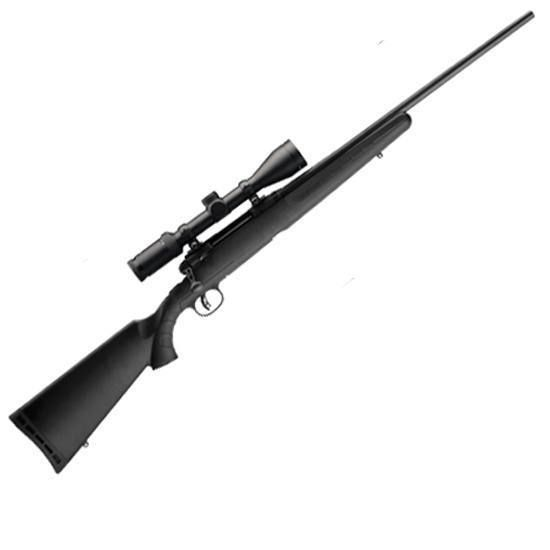 Savage AXIS II Xp Bolt Action Rifle .243 Winchester 22 Barrel 4 Rounds AccuTrigger Weaver Kaspa 3-9x40 Scope Black Synthetic Stock Matte Black G22223