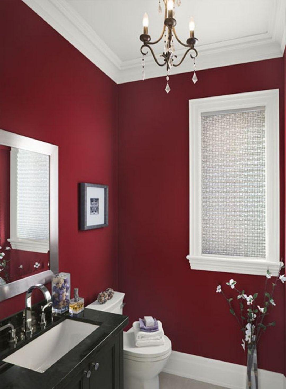 Pin By Syaifahmad On Wandfarben Red Bathroom Decor White Bathroom Decor Bathroom Red