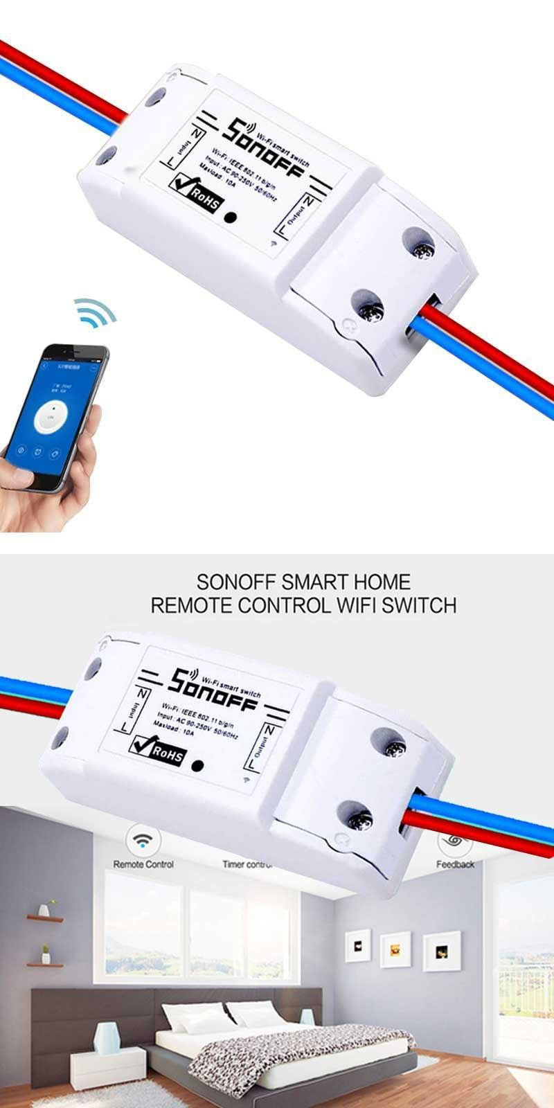 ITEAD Sonoff WIFI Switch 1 Way Remote Control Smart Home Light ...