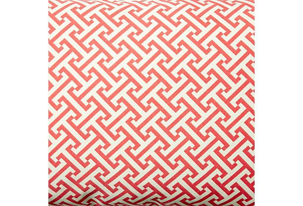 Tropez 12x20 Pillow, Coral | Go Bold | One Kings Lane