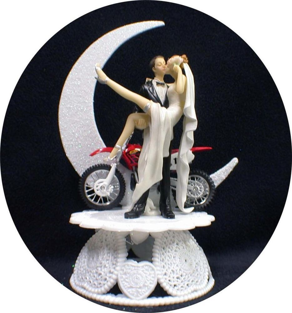 bike wedding cake topper road dirt bike motorcycle wedding cake topper 11762