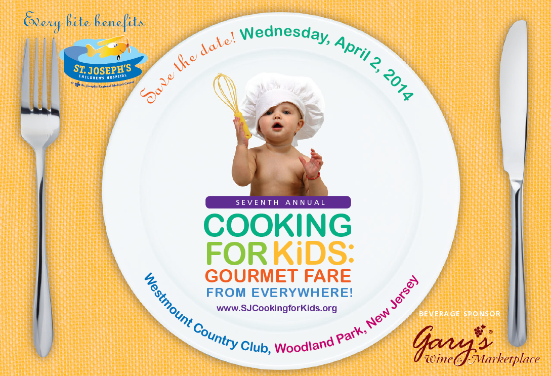Save the Date: April 2, 2014 (FRONT) #cooking4kids
