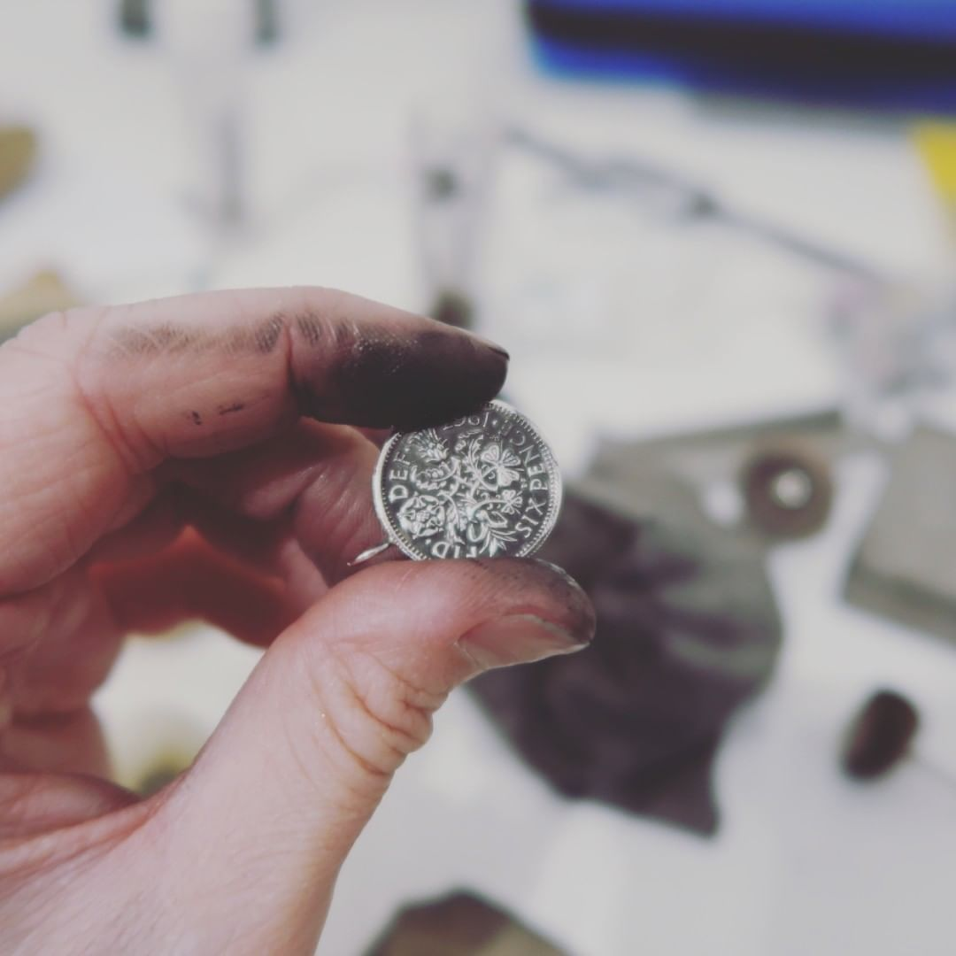 Cleaning up some silver coins to turn them into jewellery