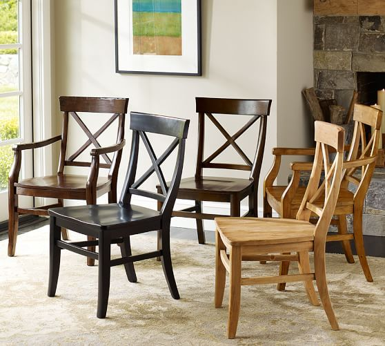 Aaron Wood Seat Chair | Pottery Barn (kitchen Table)