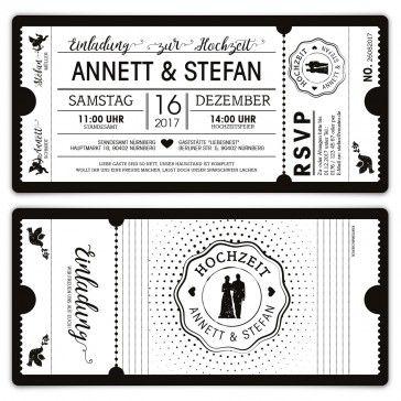 Elegant Gestalten Sie Diese Hochzeits Einladungen Im Schicken Schwarzweiß Look Mit  Ihrem Persönlichen Wunschtext
