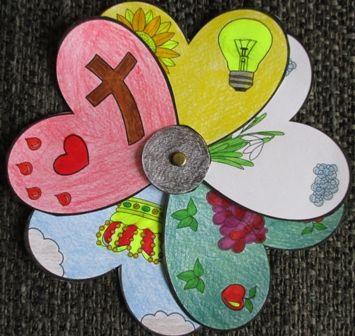 God kleurt jouw hart (hartenbloem)
