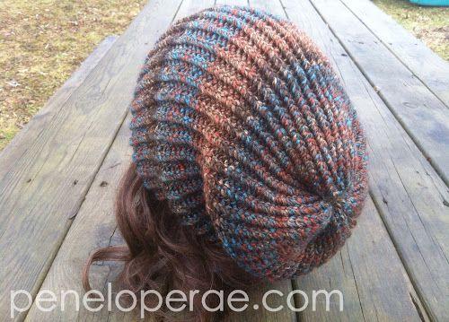 19e3c38a1 Penelope Rae  Knit Slouch Hat-Free Pattern!