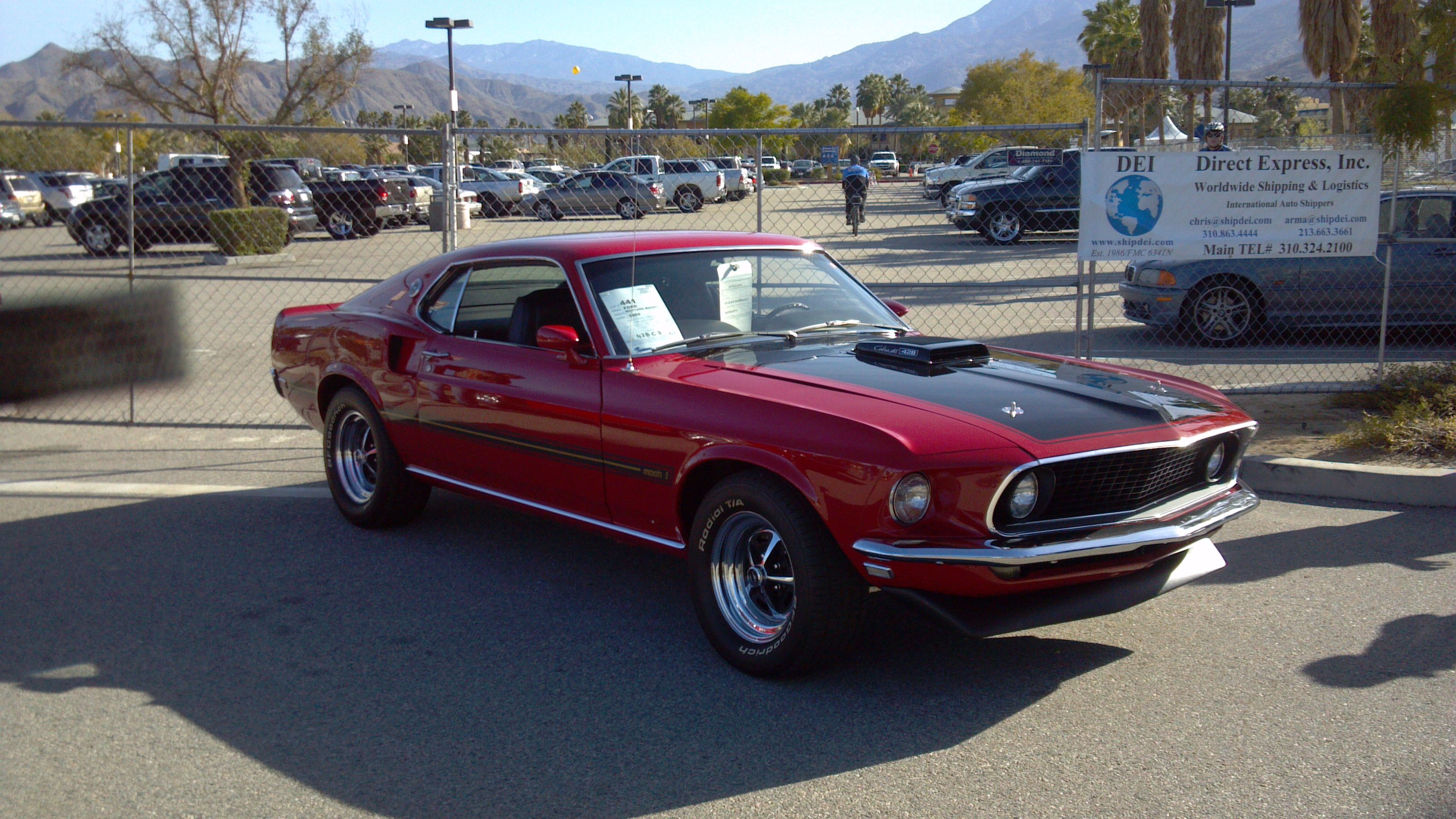 1969 mach 1 428 cobra jet 4 speed in candy apple red shaker