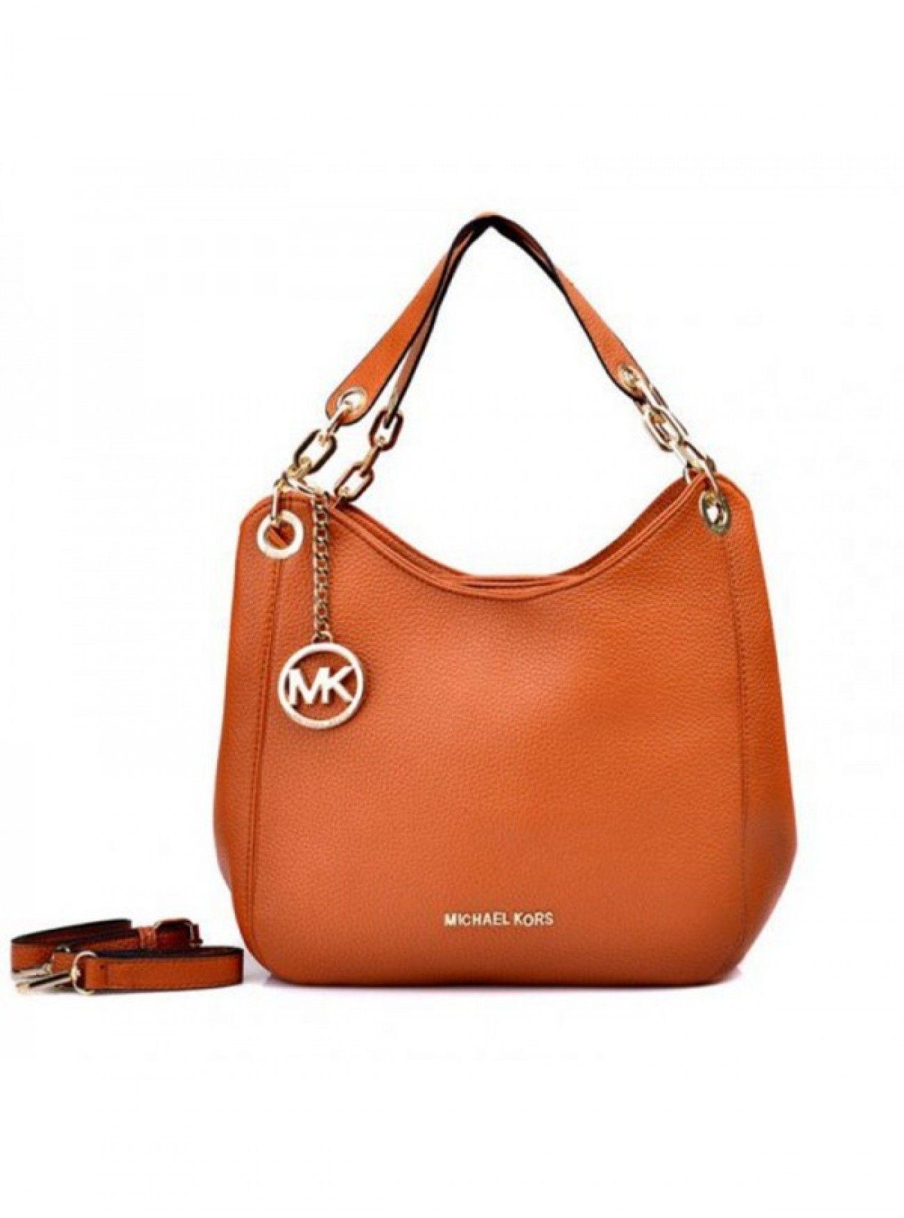 192e2ed09 Price Michael Kors Bedford Large Orange Shoulder Bags Black Online | MK