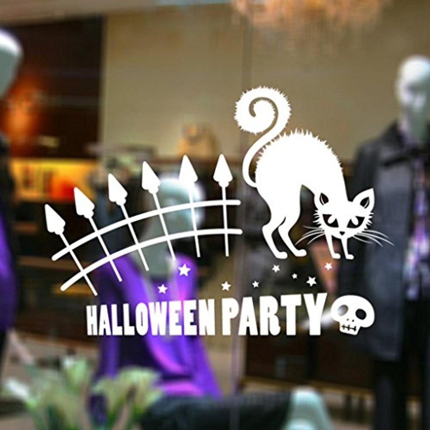 Halloween Wall Stickersunbona Happy Halloween Removable Wall Stickers Wall Decal Decor Backdrop Decorations B More Info Could Be Found At The Image