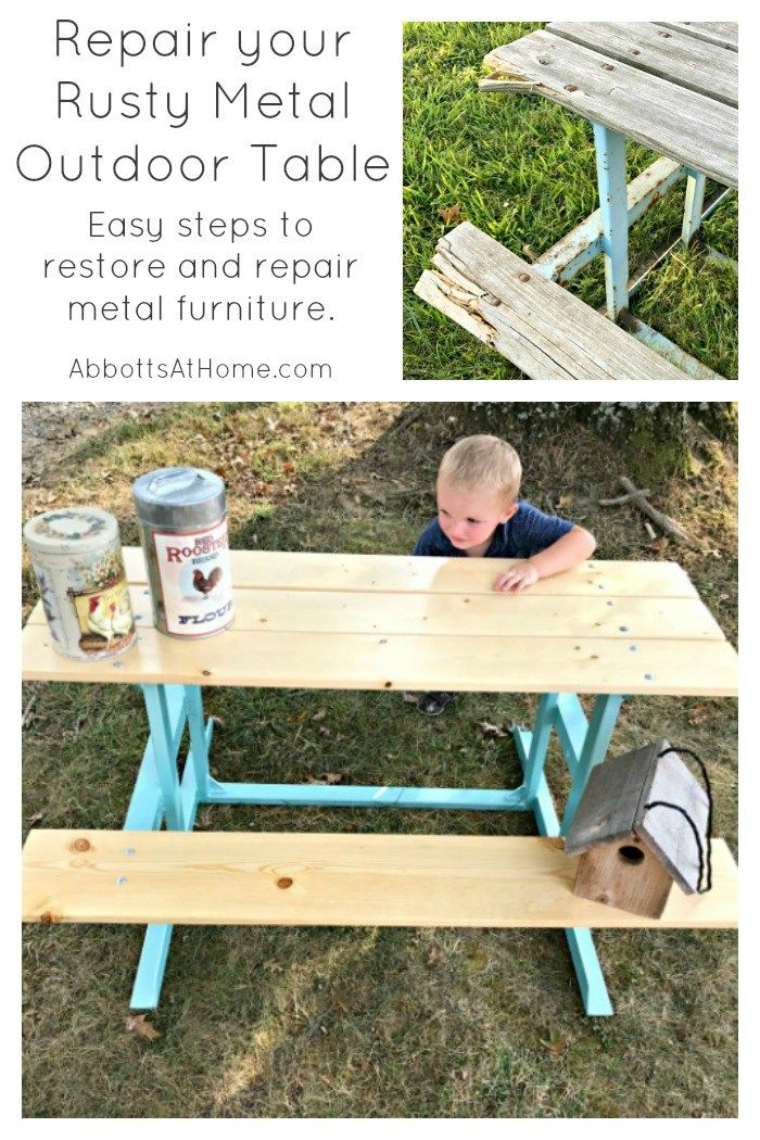 Fantastic How To Repair That Rusty Metal Outdoor Table Aah Best Diy Interior Design Ideas Ghosoteloinfo