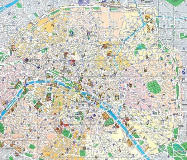 Gut gemocht High-resolution large map of Paris - download for print out | The  QK42