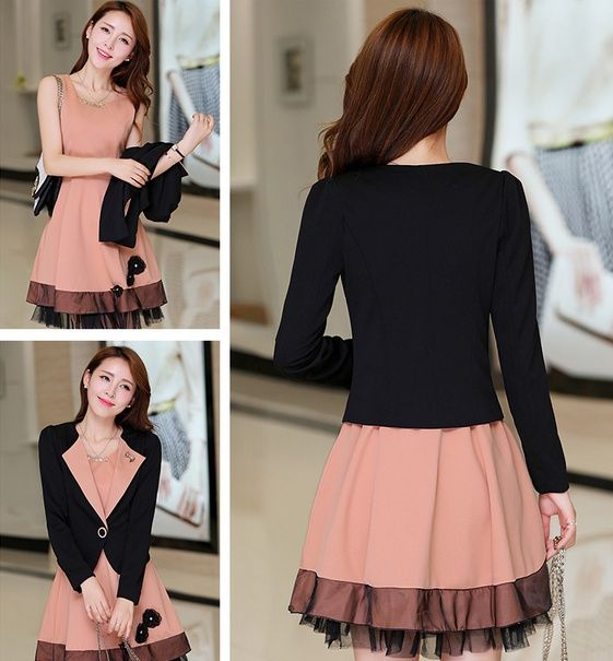 DR000607 Slim elegant long sleeve temperament dress