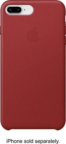 Apple Iphone 8 Plus 7 Plus Leather Case Product Red Mqhn2zm A Best Buy In 2020 Iphone Leather Case Apple Iphone Leather Case