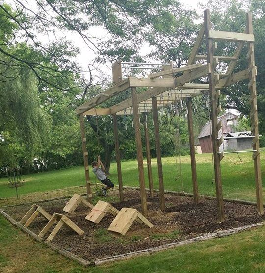 Ninja Course Picture 1 … | Backyard obstacle course ...