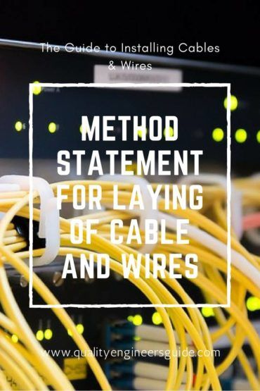 Method Of Statement Method Statement For Laying Of Low Voltage Cables And Wires .