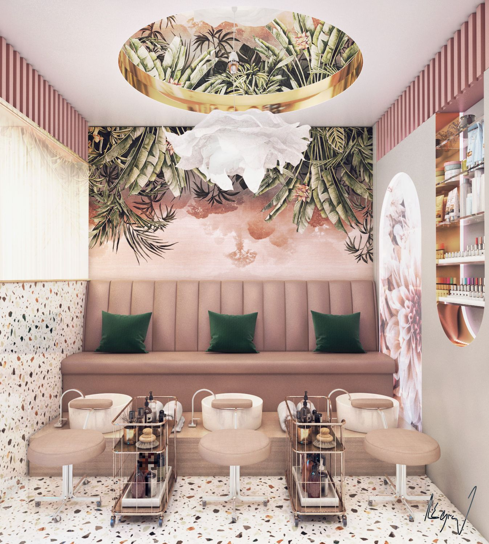 Beauty Saloon Gozeel Doha Qatar On Behance Salon Interior Design Beauty Room Decor Spa Interior Design