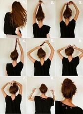 Photo of Simple quick hairstyles step by step #Hairstyle Simple quick fr …