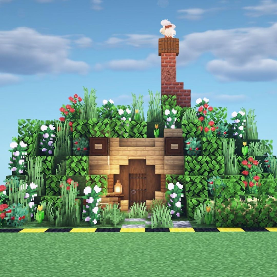 "Minecraft Builds  Inspiration on Instagram: ""Hobbit house done in"