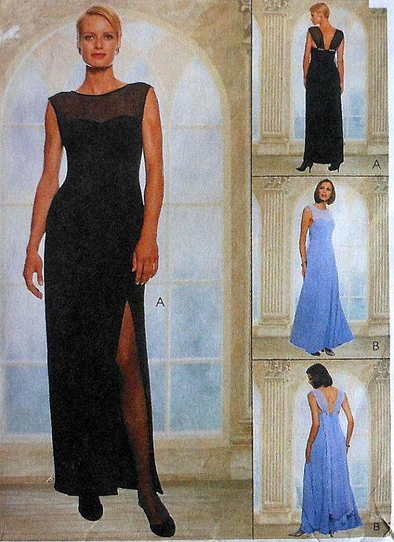 Evening Dress Sewing Pattern UNCUT McCalls 9128 Sizes 12-16 formal ...