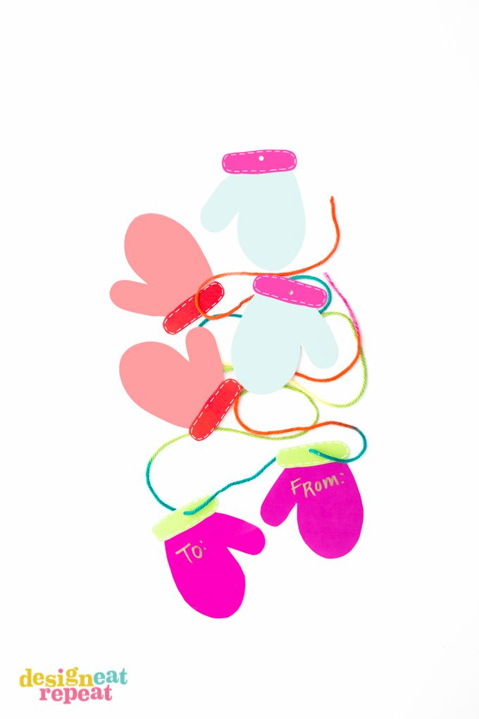Printable Mitten Gift Tags! | Free Printables / Imprimibles Gratis ...
