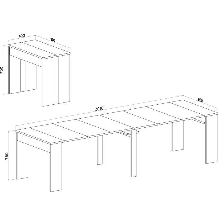 Console Extensible Table De Salle A Manger Extensible Jusqu A 301 Cm