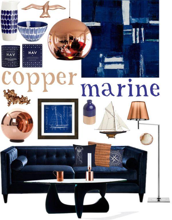 Best Copper Marine Blue Copper Living Room Copper Living 400 x 300