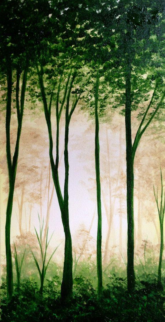 What a fun - green lover's - forest! Original artwork ...