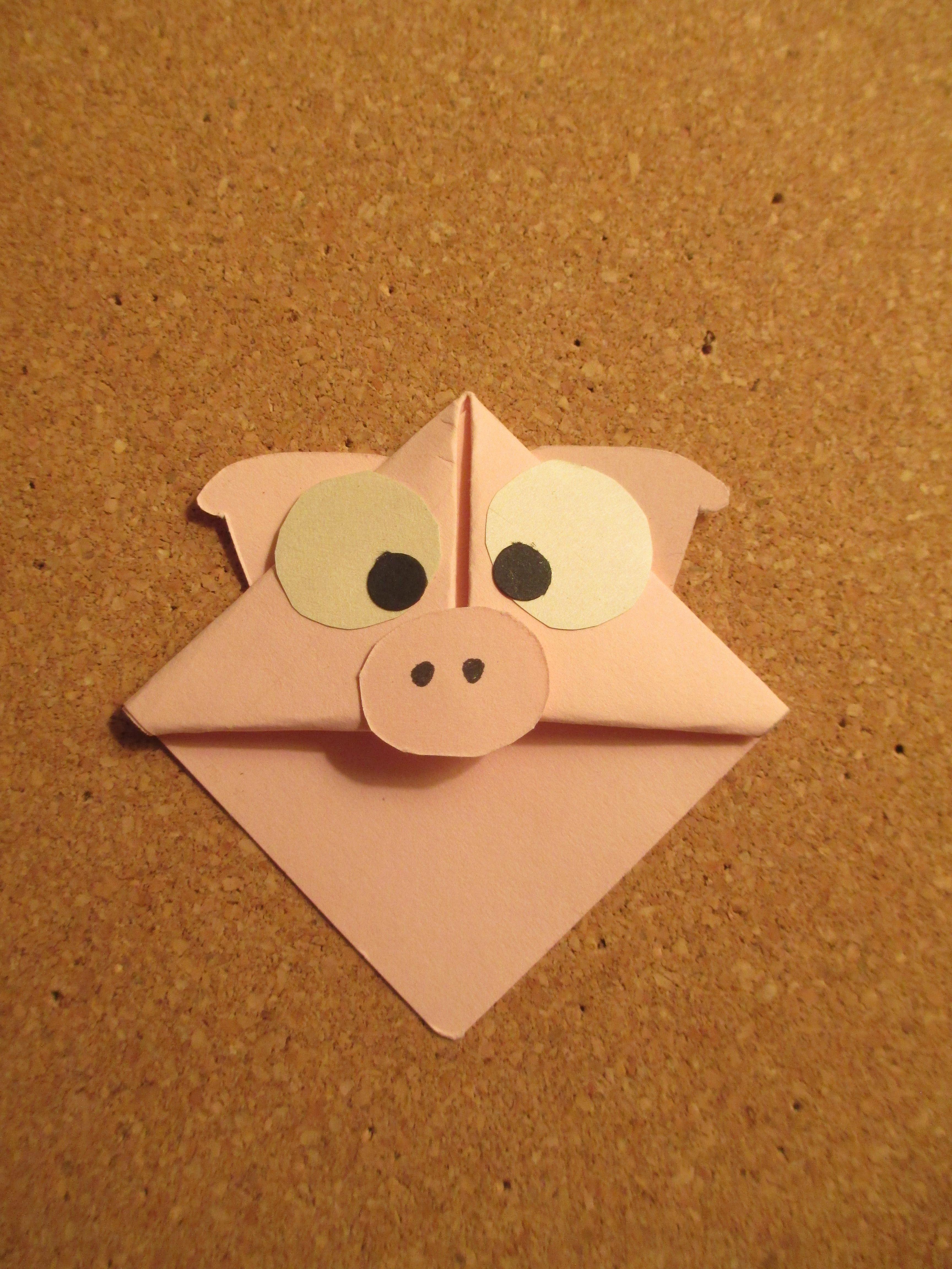 pig bookmark   Handmade Origami Bookmarks   Pinterest ... - photo#6