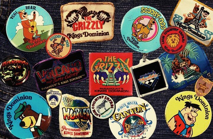 Kings Dominion patches, badges, buttons n' things   theme