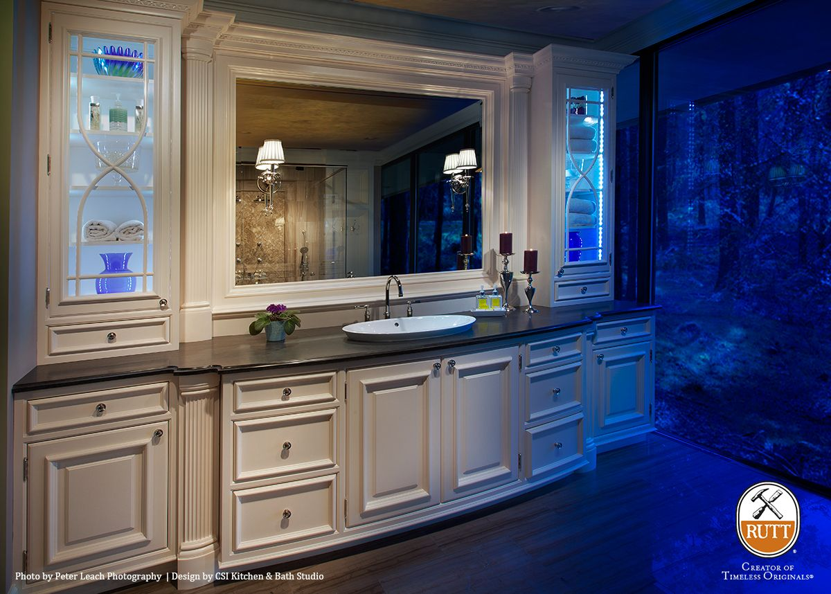 This one-of-a-kind master bath vanity designed by CSI Kitchen & Bath ...