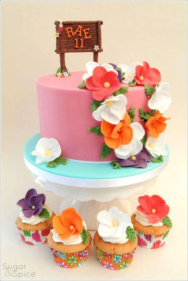 Aloha Cake by Sugargourmande Lou Tropical Pinterest Aloha