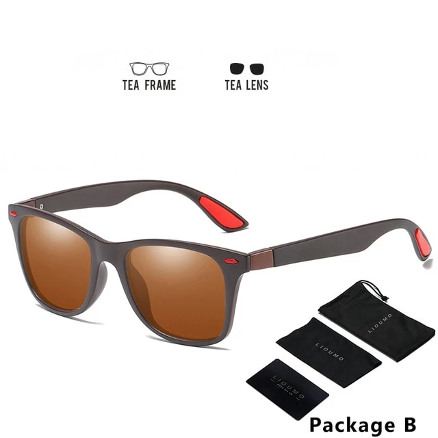 Design Ultralight TR90 Men Women Classic Retro Polarized