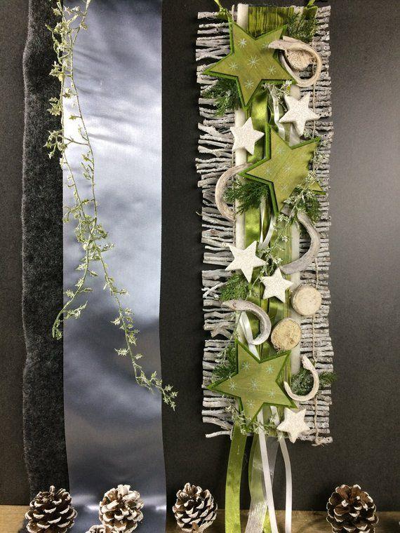 Weihnachten Advent Türdeko Türdekoration Türkranz Stern Birke Reebmatte