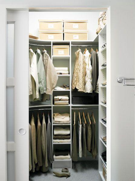 Places Small Well Organized Closets Deep Closet Small Deep