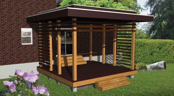 plan-de-terrasse-en-bois-a-palier-unique Pergola Pinterest