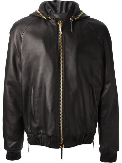 Giuseppe Zanotti Design, Leather Bomber Jacket (Black)