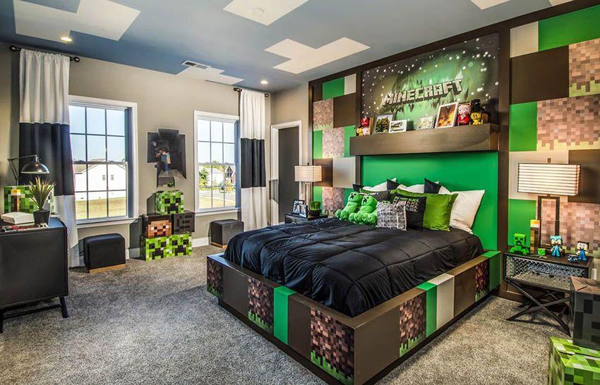 Accent Wall Ideas Interior Designs Deco Chambre Minecraft Chambre Minecraft Decoration Chambre Ado