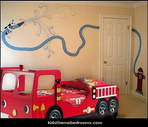 Decorating Theme Bedrooms Maries Manor Fire Truck Bedroom Decor Firefighter Bedding Fireman Bedding Fireman Room Fire Truck Bedroom Firefighter Room