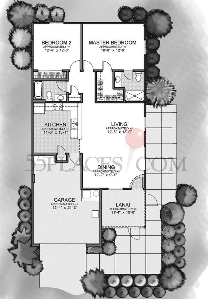 Colony Villa Floorplan 1163 Sq Ft The Villages Floor Plans New House Plans Village
