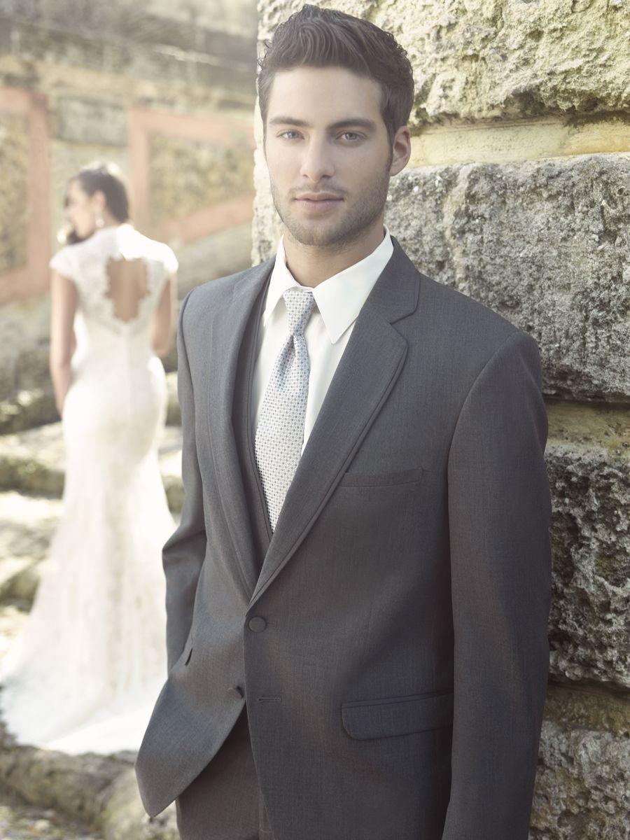 Charcoal Gray 2 Button Tuxedo Allure Modern Fit Notch Lapel ...