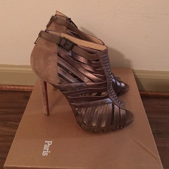 Christian Louboutin Karina 38 Booties Only worn once. Box and dust bag included. 100% authentic. Christian Louboutin Shoes Heels